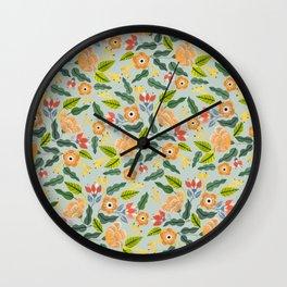 Happiest Flowers Wall Clock