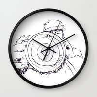 photographer Wall Clocks featuring photographer by APO+