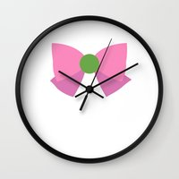 sailor jupiter Wall Clocks featuring Sailor Jupiter Bow by samaran