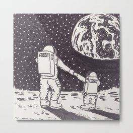 Mom and Son Astronauts Metal Print
