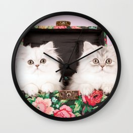 Shabby Chics on the Road Wall Clock
