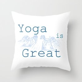Yoga Is Great : Blues Take Two Throw Pillow