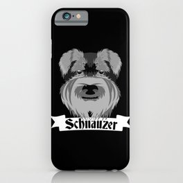 Schnauzer iPhone Case