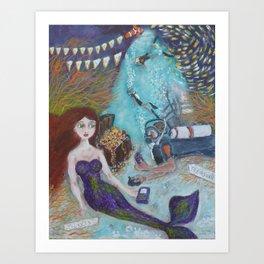 Mermaid Theme Park Art Print