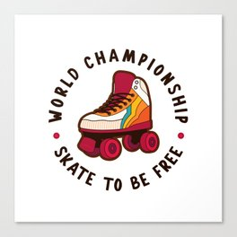 World Championship Roller Skate Canvas Print