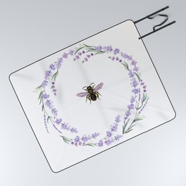 Lavender Bee Picnic Blanket