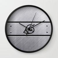 naruto Wall Clocks featuring Naruto Headband by Kesen