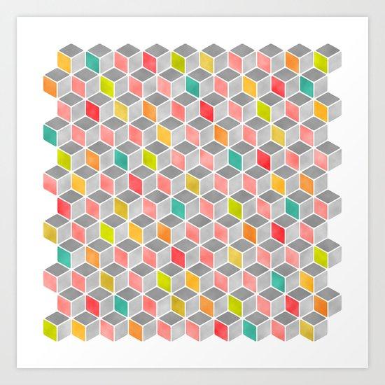 Block Party Bright Art Print