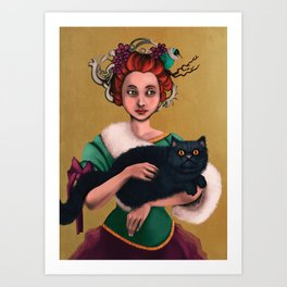 Lady decadence  Art Print