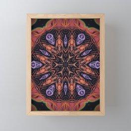 Fire Within // Visionary Art Sacred Geometry Energy Healing Chakra Elements Meditation Consciousness Framed Mini Art Print