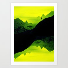 Vibrant Wasteland Art Print