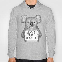 Koala save the planet Hoody