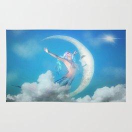 Mermaid & the Moon Rug