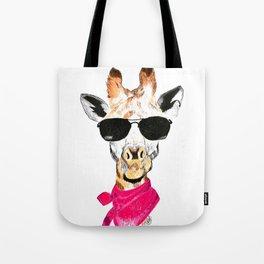 Giraffe with sunglasses Tote Bag