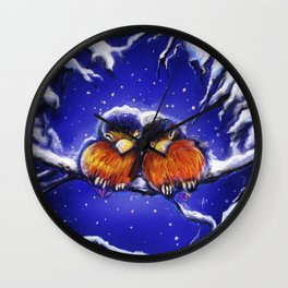 Hug me until the winter is over Wall Clock