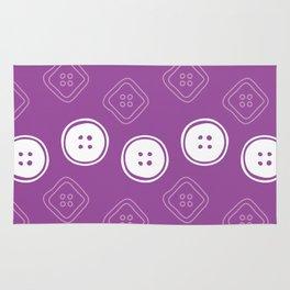 Polka Buttons Purple Rug