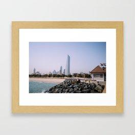 Kuwait Cityscape Framed Art Print