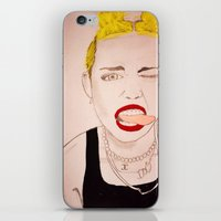 miley cyrus iPhone & iPod Skins featuring Miley Cyrus  by kelsey kolokowski