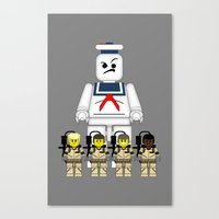 ghostbusters Canvas Prints featuring Ghostbusters  by 1982 est. by A.W. Owens