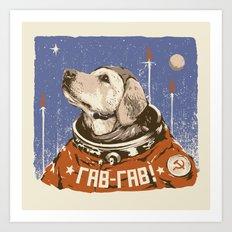 Soviet Space Dog Art Print