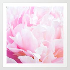 CREAMY PINK FLOWER Art Print