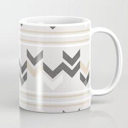 Geometric Arrowhead Charcoal Gold And White Grunge Pattern Coffee Mug