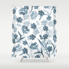 Paint it Blue Shower Curtain
