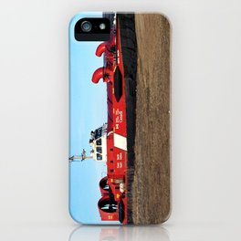 Hovercraft on the Beach iPhone Case