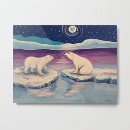 Polar Bears Metal Print