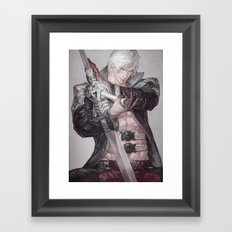 Devil of the tiger Framed Art Print