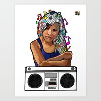 Art Print featuring Boombox by Raheem Nelson
