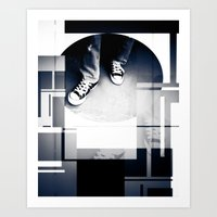 converse Art Prints featuring Converse by Roberto Cuevas