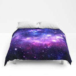 Purple Blue Galaxy Nebula Comforters