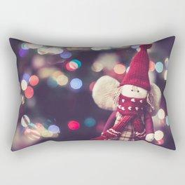 Christmas Bokeh Rectangular Pillow