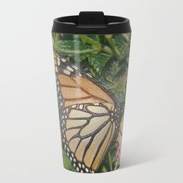 Monarch Butterfly Abstract Travel Mug
