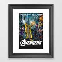 The Just the Worst Avengers! Framed Art Print