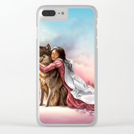 VII Wolf Clear iPhone Case