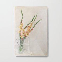 Gladiolus Chair Metal Print