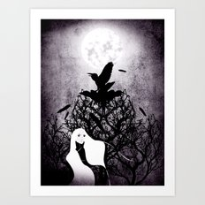 12 crows/ the nest Art Print