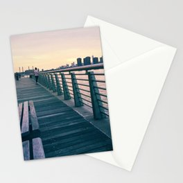 Woman at the Waterfront  Stationery Cards
