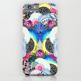 Whimsical abstract hand paint design iPhone Case