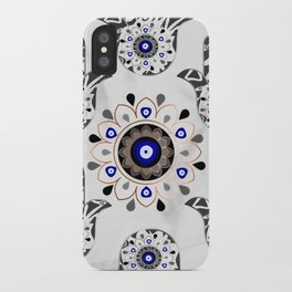 Mandala Evil Eye Hamsa Hand iPhone Case
