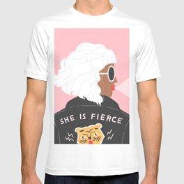 She is Fierce Pink T-shirt