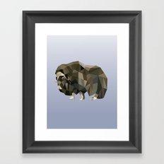 Geometric Yak Framed Art Print