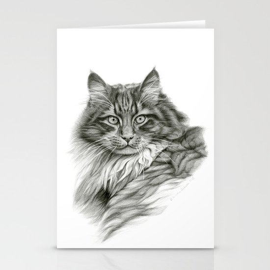 Ginger Cat G2012-052 Stationery Cards