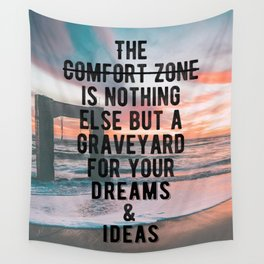 Motivational - Run From Your Comfort Zone Quote Wall Tapestry