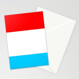 flag of luxembourg 2- Luxembourgish,Lëtzebuerg,Luxemburg,Luxembourger, luxembourgeois Stationery Cards
