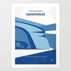 No767 My Snowpiercer minimal movie poster Art Print