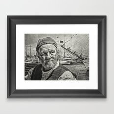 The Old Salt Framed Art Print
