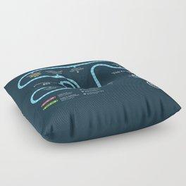 Tomorrowland Transit Authority Map Floor Pillow